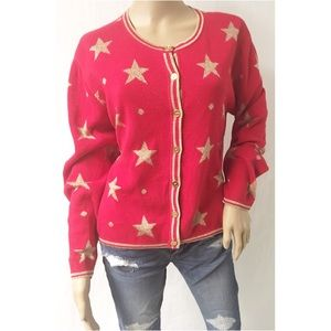 Red & Gold Vintage Sweater Size Medium
